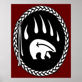 El arte tribal del oso de los posters tribales del