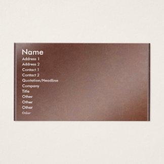 El artista creó la hoja de cobre hecha a mano tarjeta de visita