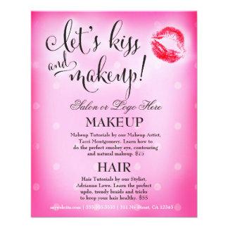 El artista de maquillaje 311 deja beso y maquillaj folleto 11,4 x 14,2 cm