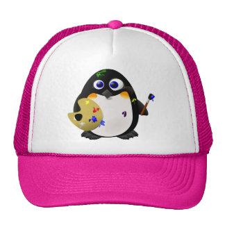 """""""El artista"""" -- Pingüino lindo del pintor Gorro De Camionero"""