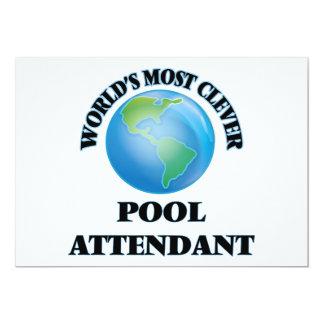 El asistente más listo de la piscina del mundo invitación 12,7 x 17,8 cm