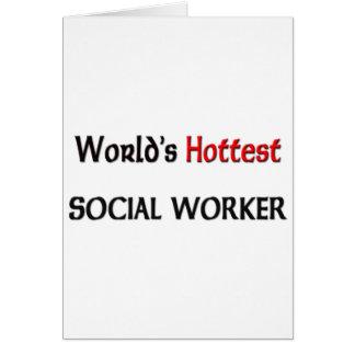 El asistente social más caliente de los mundos tarjeta de felicitación
