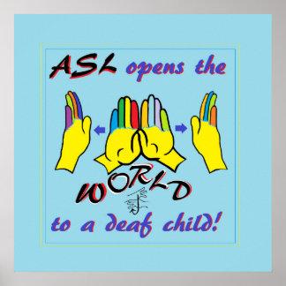 El ASL abre el mundo Póster