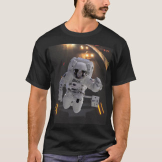 El astronauta de la carretera explora la camiseta