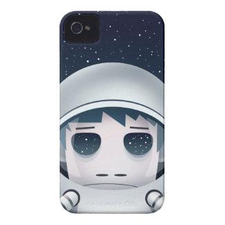 El astronauta solo en espacio iPhone 4 Case-Mate carcasa