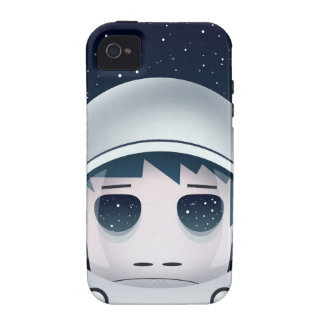 El astronauta solo en espacio Case-Mate iPhone 4 fundas