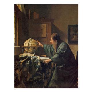El astrónomo de Juan Vermeer Postal