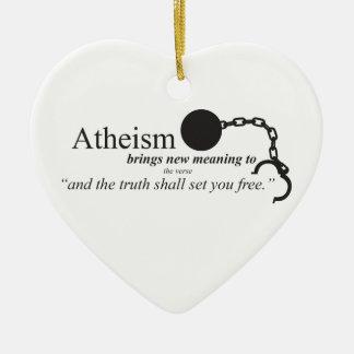 El ateísmo trae el nuevo significado ornamento de navidad