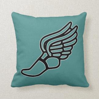 El atletismo Hermes se fue volando color del Cojín Decorativo