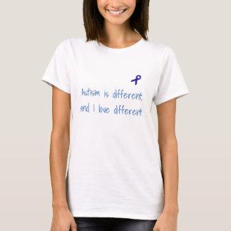El autismo es diferente, y amo diversa camisa