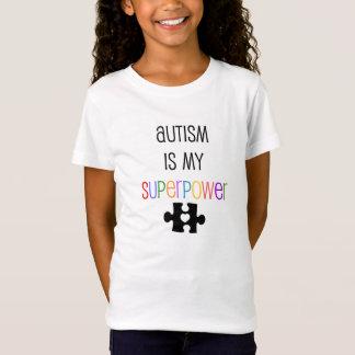 El autismo es la camiseta cabida de mi chica de la