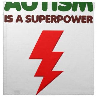 El autismo es superpoder, niños, niños, importa de servilleta de tela