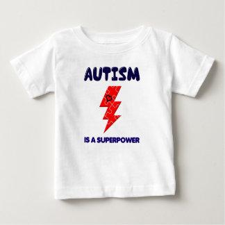 El autismo es superpotencia, mente mental de la camiseta de bebé