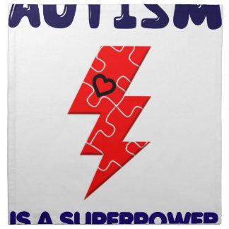 El autismo es superpotencia, mente mental de la servilleta de tela