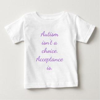 El autismo no es una opción camiseta de bebé