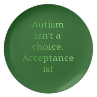 El autismo no es una opción (verde plato