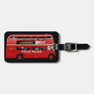 El autobús de Londres Etiquetas Para Maletas