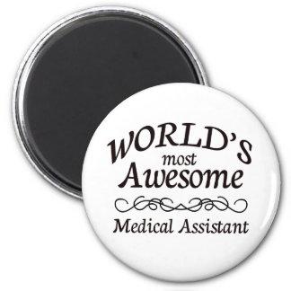 El auxiliar médico más impresionante del mundo imán redondo 5 cm