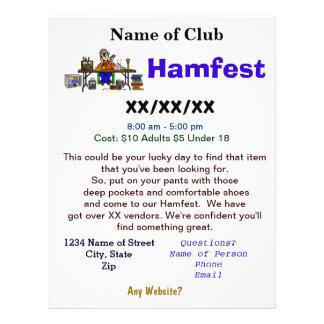 El aviador 2 de Hamfest echó a un lado con persona Tarjetón