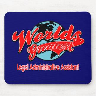 El ayudante administrativo legal más grande del mu alfombrilla de ratón