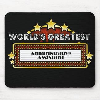 El ayudante administrativo más grande del mundo tapetes de ratón