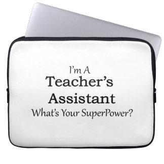 El ayudante del profesor funda para ordenador
