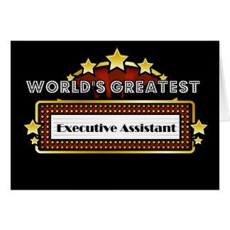 El ayudante ejecutivo más grande del mundo tarjeta de felicitación