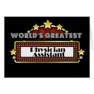 El ayudante más grande del médico del mundo felicitacion