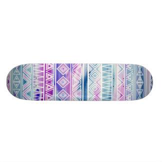 El Azteca en colores pastel de la acuarela inspiró Tabla De Skate