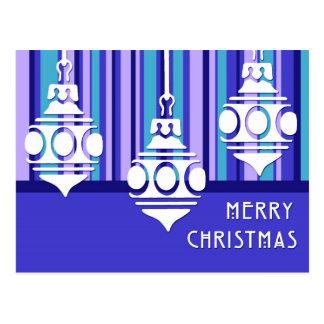 El azul adorna las postales de las Felices Navidad