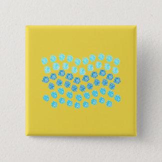 El azul agita el botón cuadrado
