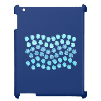 El azul agita el caso brillante del iPad