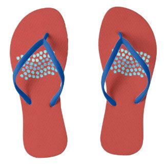 El azul agita flips-flopes delgados adultos de la chanclas