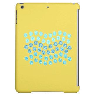 El azul agita la caja mate del aire del iPad