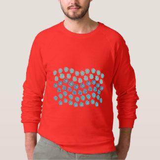 El azul agita la camiseta del raglán de los