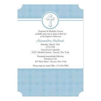 El azul ajusta la invitación religiosa