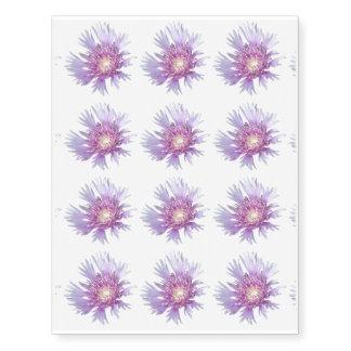 El azul alimenta el flor de la flor del aster tatuajes temporales