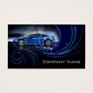 El azul curva la tarjeta de visita automotriz