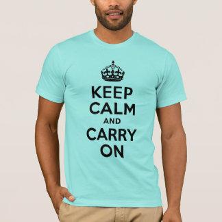 El azul de la aguamarina guarda calma y continúa camiseta