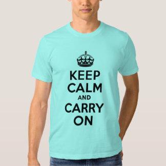 El azul de la aguamarina guarda calma y continúa camisetas