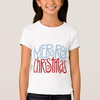 El azul de la oscuridad de las Felices Navidad Camisetas