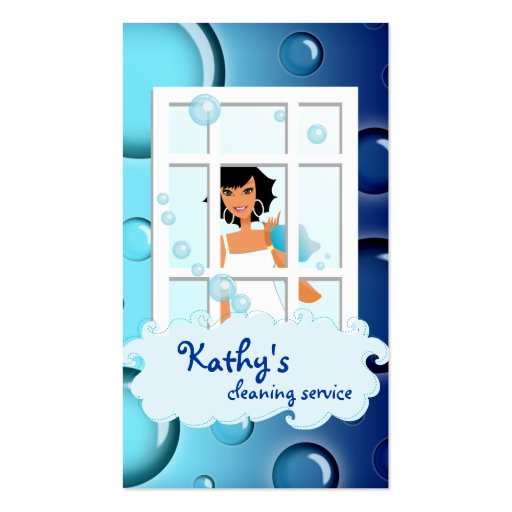 El azul de la tarjeta de visita de la limpieza bur