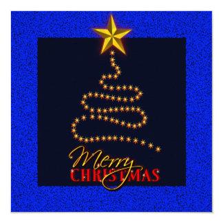 El azul del navidad y la invitación del fiesta del