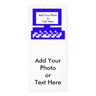 El azul del ordenador de las imágenes de la serie  plantillas de lonas