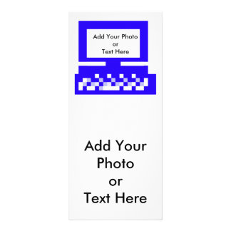 El azul del ordenador de las imágenes de la serie  tarjetas publicitarias personalizadas
