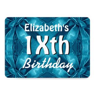 El azul del vintage arquea cualquier cumpleaños invitación 12,7 x 17,8 cm