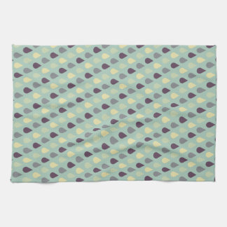 El azul del vintage cae la toalla de cocina