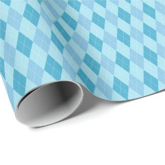 El azul entona el papel de embalaje de Argyle