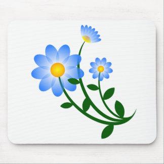 El azul florece el mousepad alfombrilla de ratón