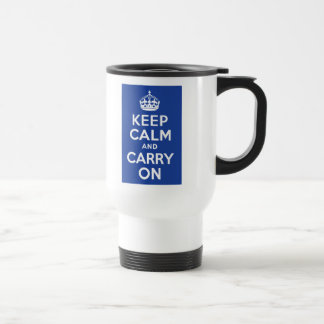El azul guarda calma y continúa tazas de café